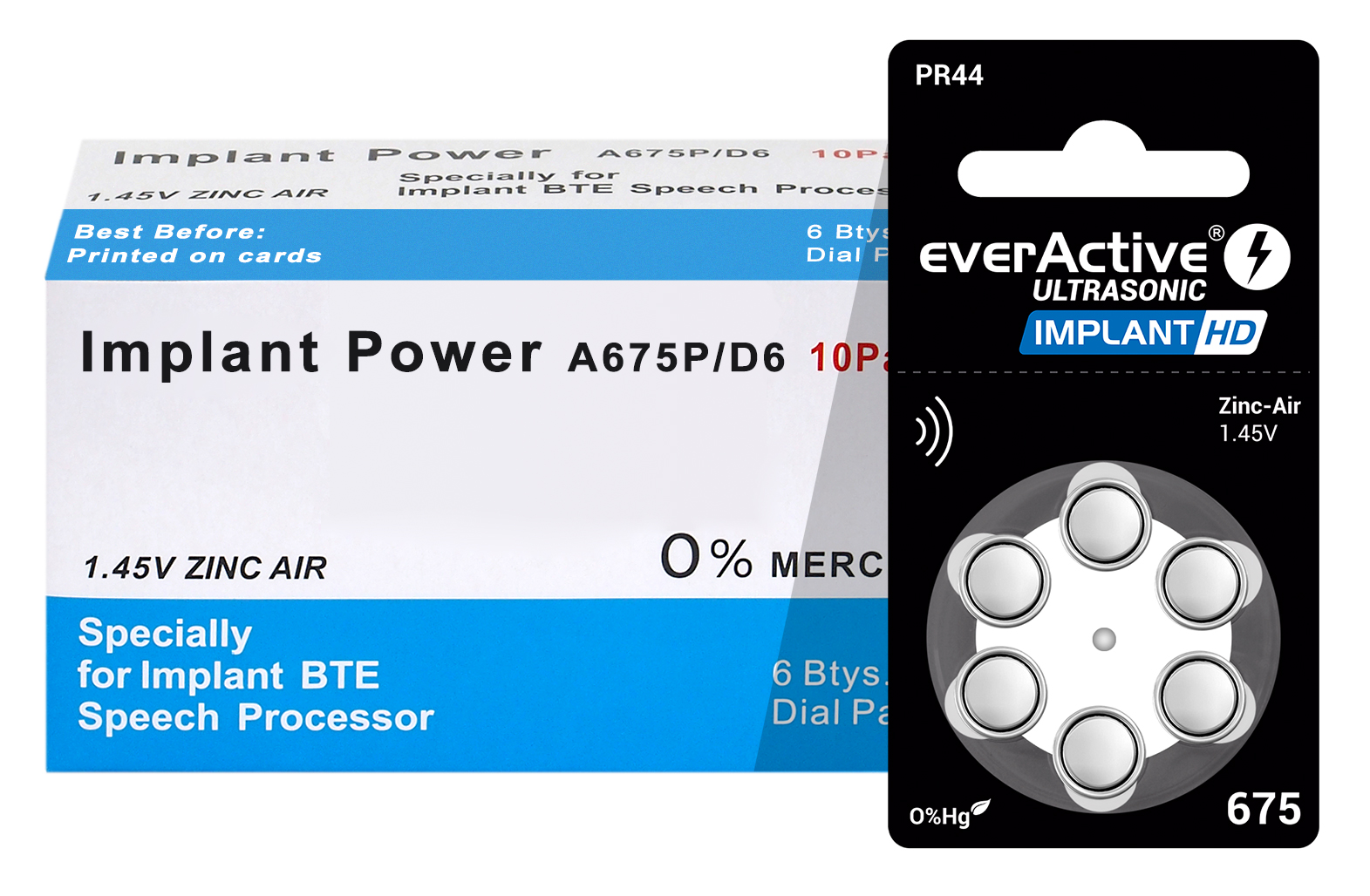 everActive zinc-air implant hd battery box