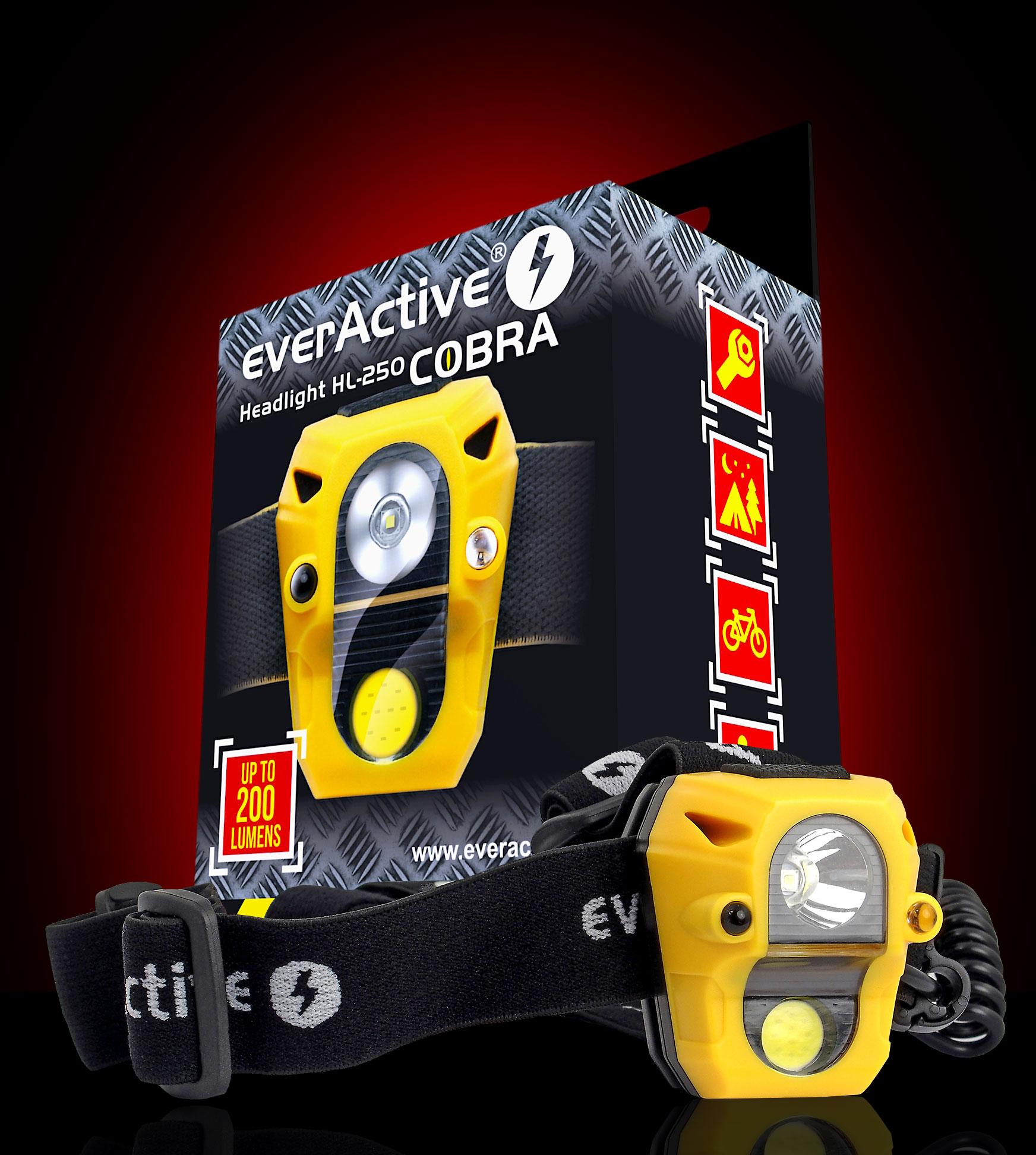everActive new Cobra HL-250 headlight with giftbox
