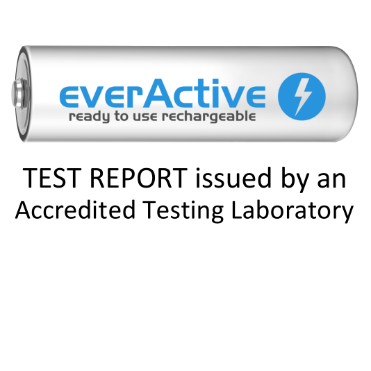 everActive battery tested by accredited labortory