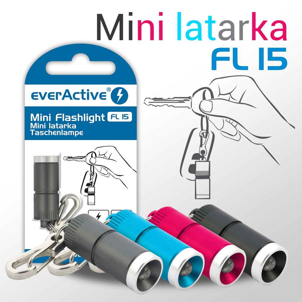 new colors of everActive FL-15 mini flashlight