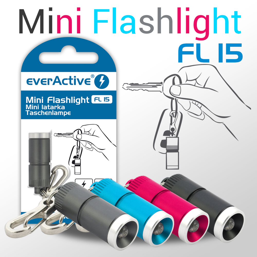 new colour versions of everActive FL-15 mini flashlight