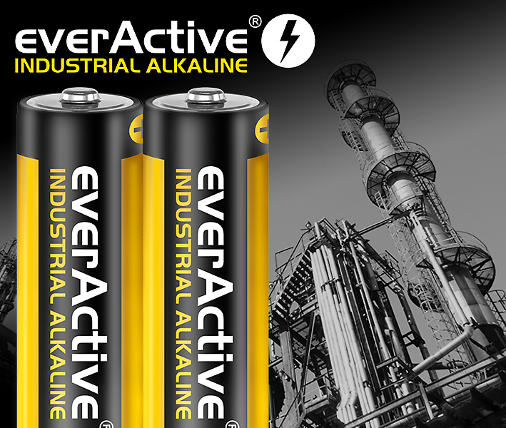 Industrial alkaline batteries from everActive