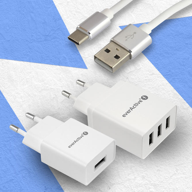 everActive usb cables and chargers