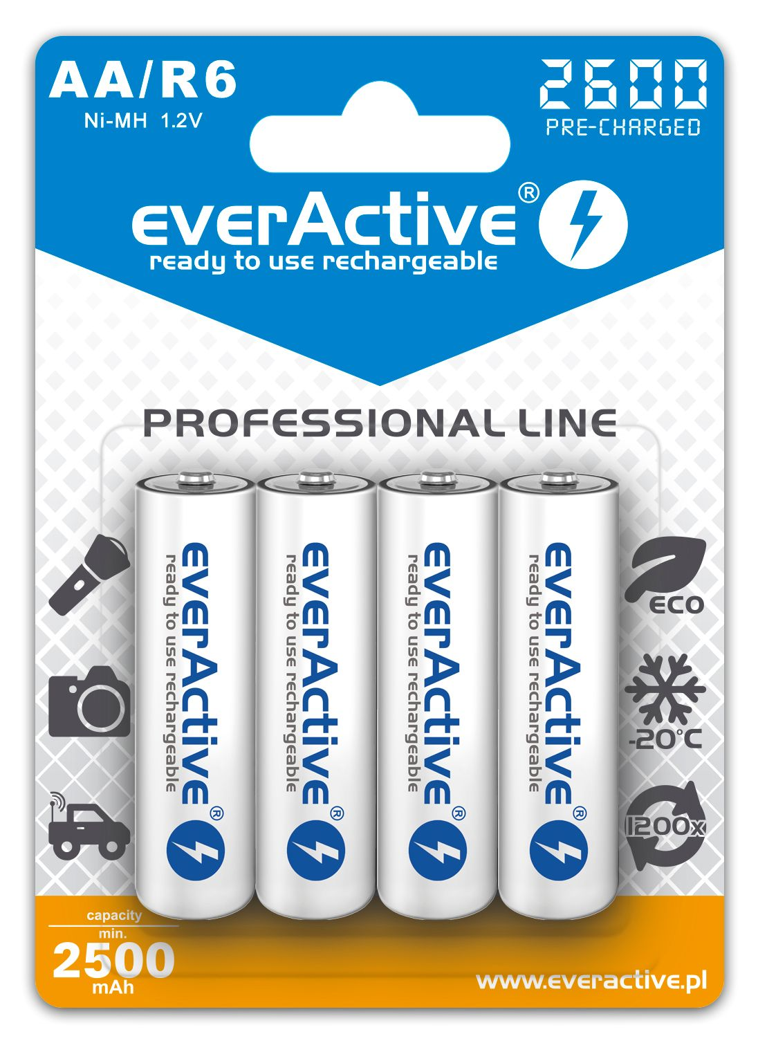 everAvtive Ni-MH new blister design