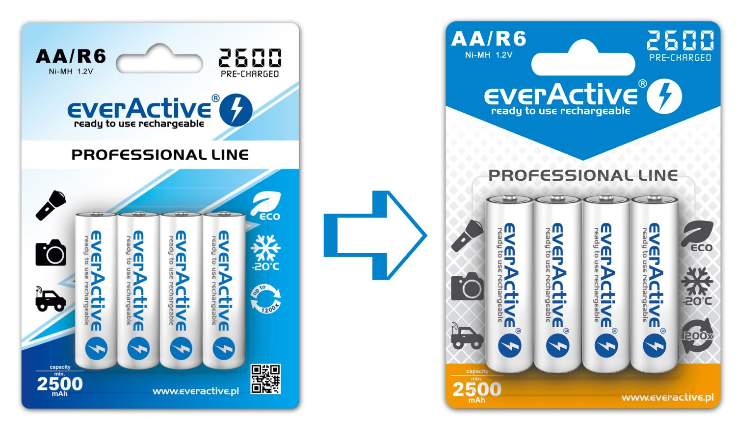 everActive blister cards - old vs new