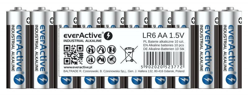 everActive alkaline batteries Industrial Series LR6 AA