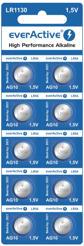 Mini alkaline batteries everActive G10 LR1130 LR54