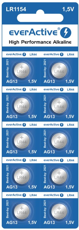 everActive mini alkaline batteries G13 LR1154 LR44