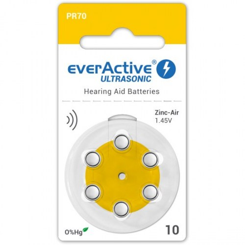 Zinc-air batteries everActive Ultrasonic 10 / PR70