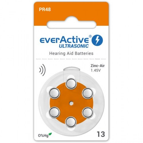 Zinc-air batteries everActive Ultrasonic 13 / PR48