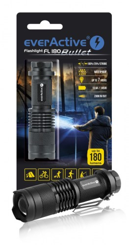 "everActive FL-180 ""Bullet"" flashlight"