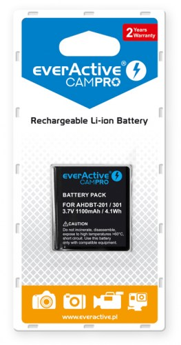everActive CamPro battery - replacement for GoPro Hero 3 / 3+ / AHDBT-301