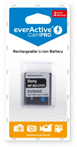 everActive CamPro battery - replacement for Sony NP-BG1