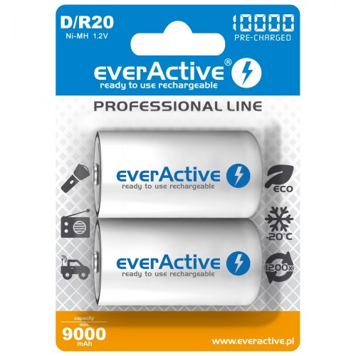 everActive Ni-MH R20 D 10000 mAh Professional Line