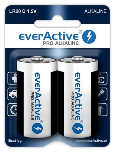 Alkaline batteries everActive Pro Alkaline LR20 D - blister card - 2 pieces