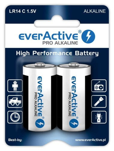 Alkaline batteries everActive Pro Alkaline LR14 C - blister card - 2 pieces