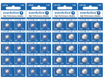 AG button cells everActive side by side