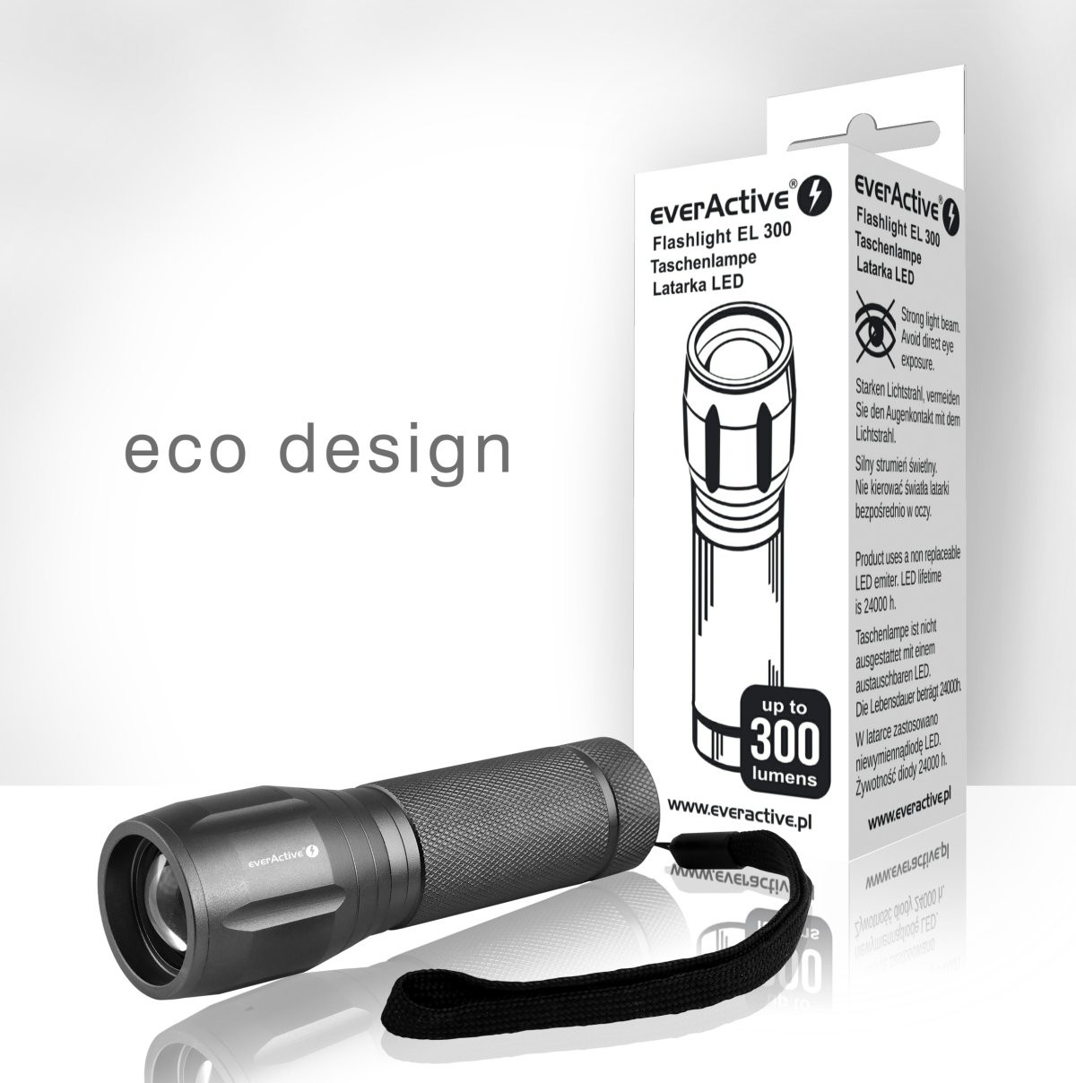 New everActive EL-300 flashlight