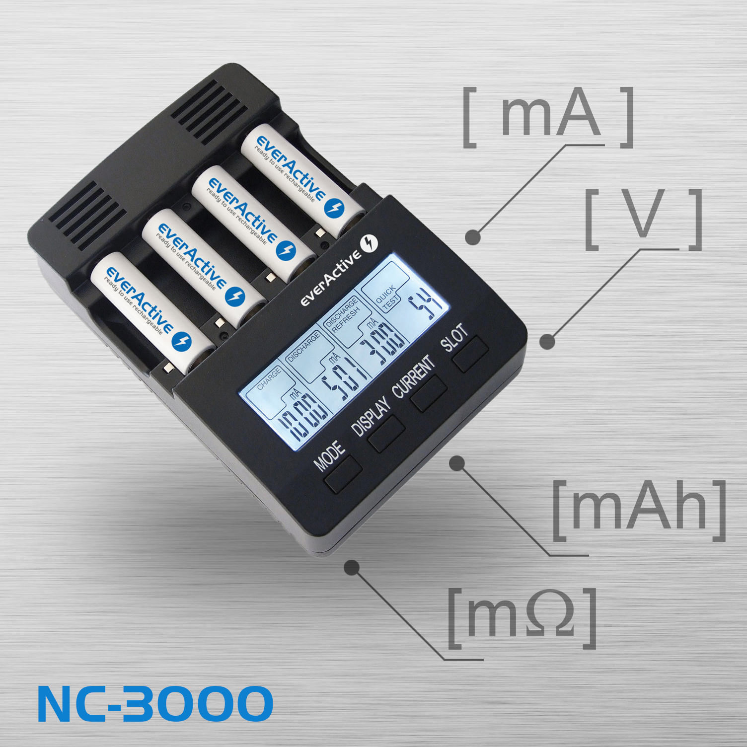 everActive NC-3000 as a battery analyzer